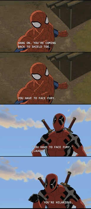 shield deadpool Spider-Man