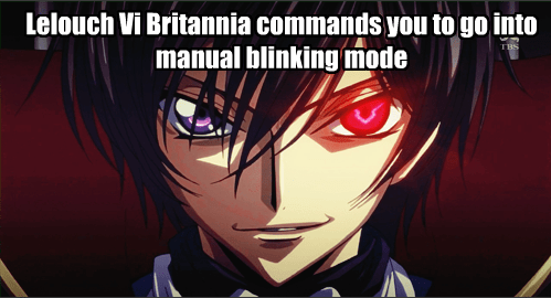 anime code geass manual blinking mode - 8210811392