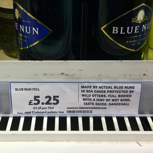 signs wine blue nun funny after 12 g rated - 8211038208