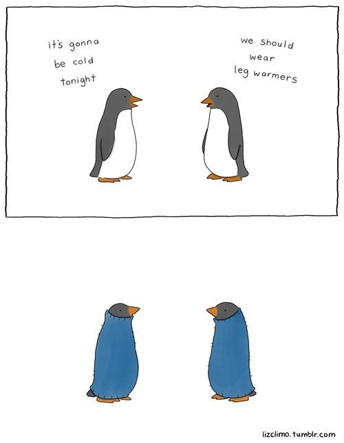 poorly dressed penguins comics leg warmers - 8211072256
