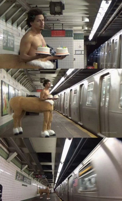 cake,centaur,poorly dressed,Subway