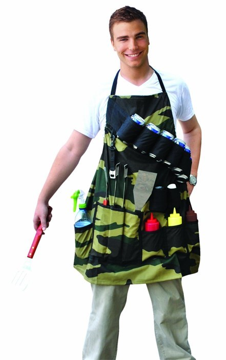 apron,be prepared,poorly dressed,camouflage
