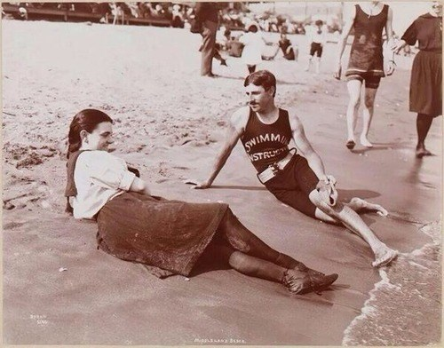 beach,scientists,Nikola Tesla,funny,vintage