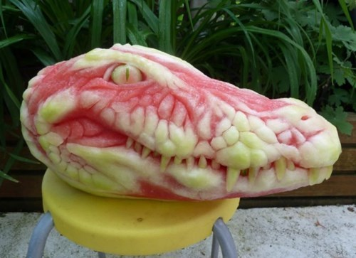 watermelon carving fruit