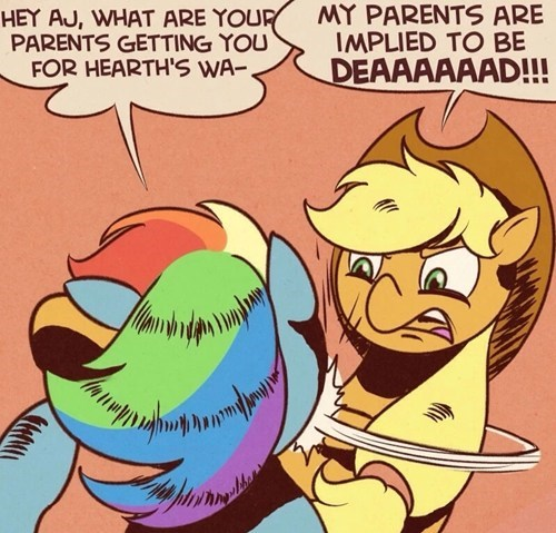 applejack,rainbow dash