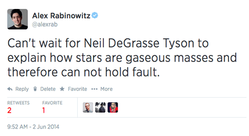 twitter celeb science Neil deGrasse Tyson g rated School of FAIL