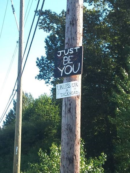 inspirational signs,just be you