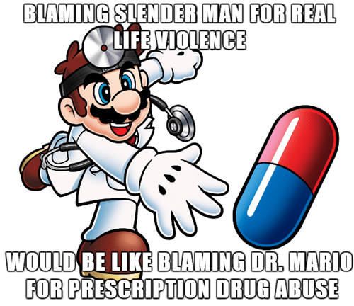 slender man,gaming logic,Dr Mario