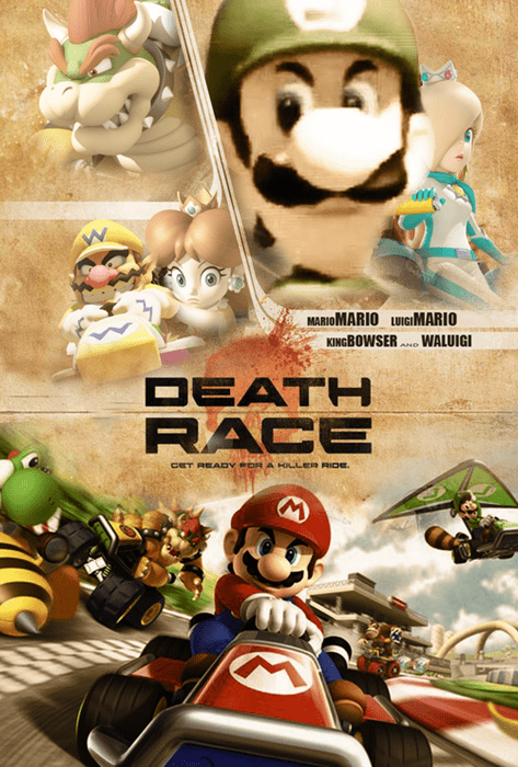 Fan Art,death race,mario kart 8