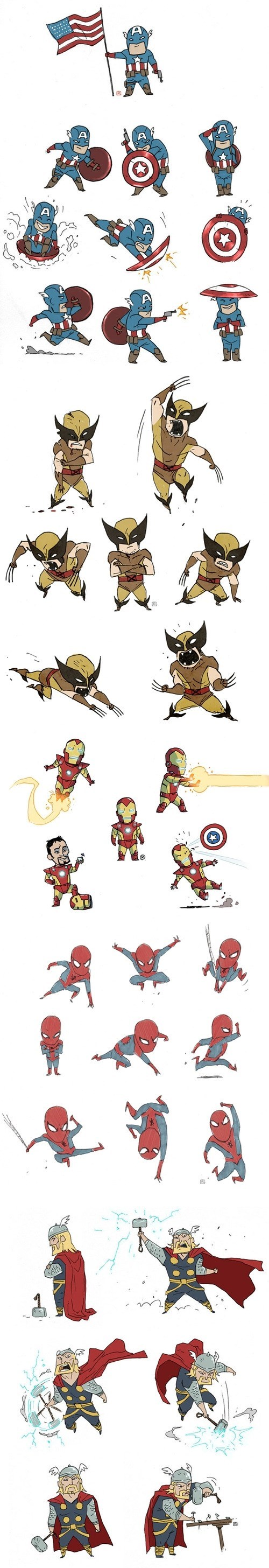 Fan Art chibi avengers - 8212314624