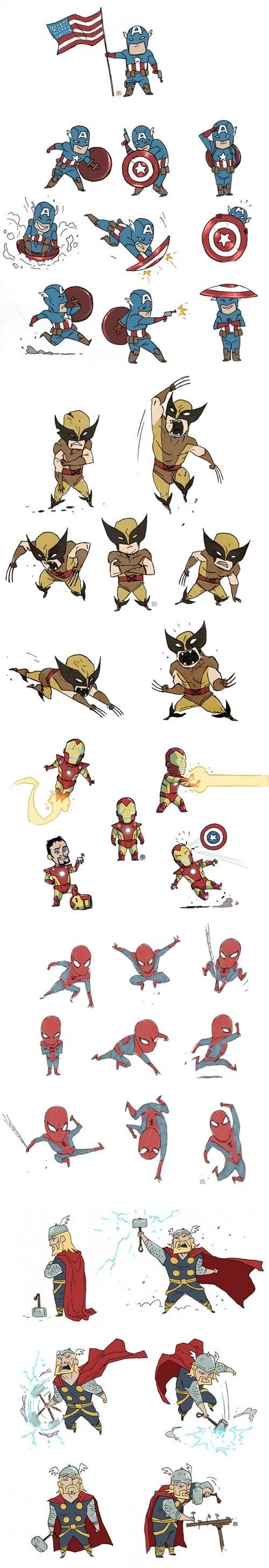 Fan Art chibi avengers - 8212314624