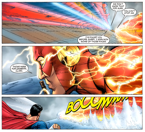Straight off the Page superman flash - 8212333056