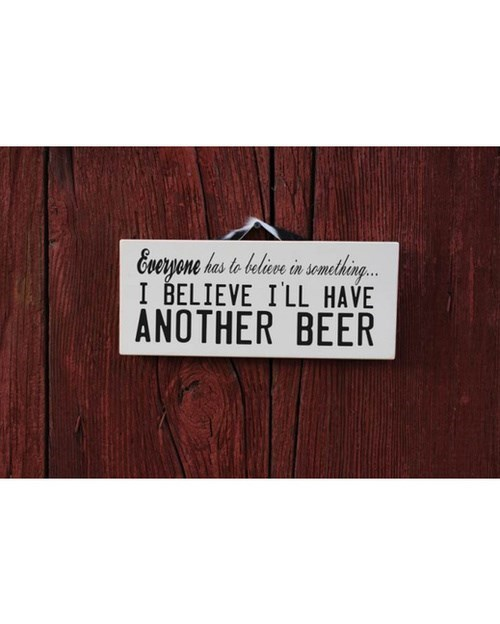 beer sign funny believe - 8212407040
