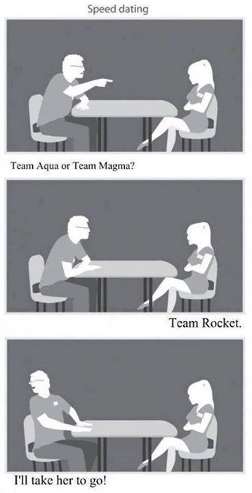 Pokémon,Team Rocket,speed dating,true love