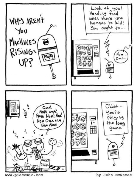 vending machines,singularity,robots,snacks,web comics