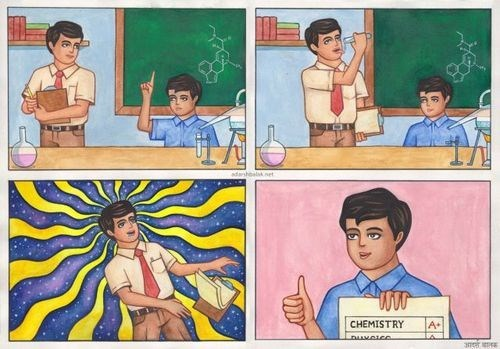 psychedelic Chemistry win web comics - 8213370368