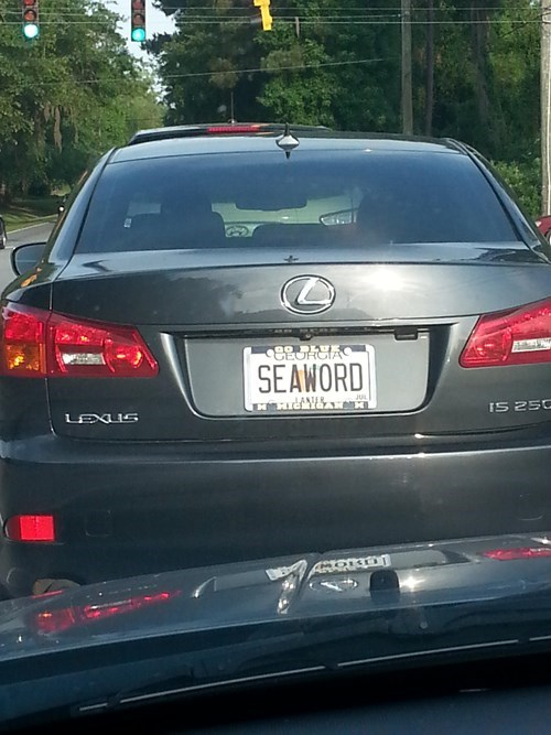 license plates,seaword