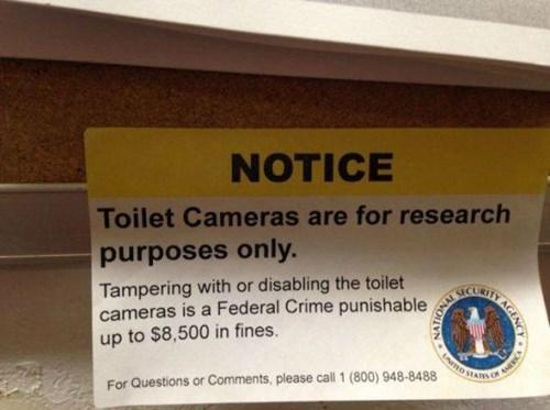 NSA,toilet cameras