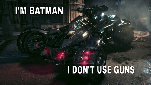 guns batmobile arkham knight - 8213447680