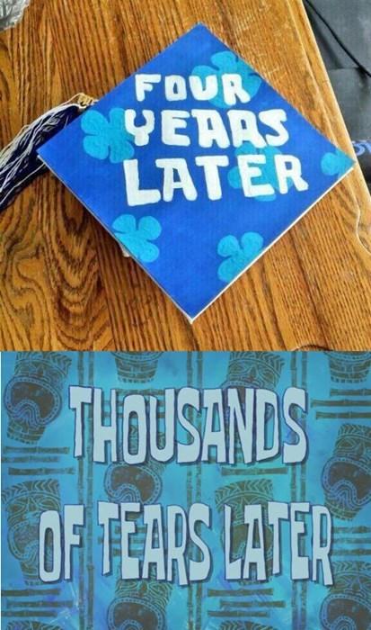graduation SpongeBob SquarePants funny crying g rated - 8213594624