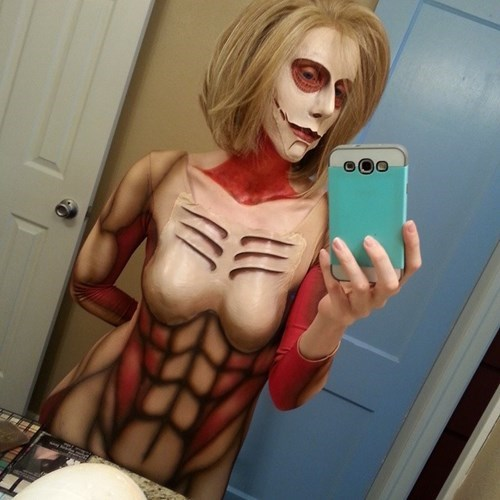 cosplay,body paint,attack on titan
