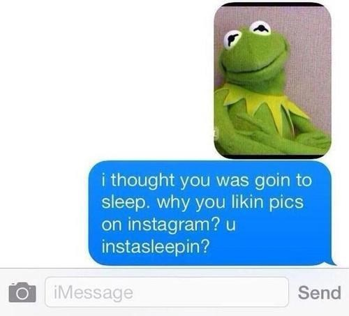 kermit the frog instagram texting - 8213776896