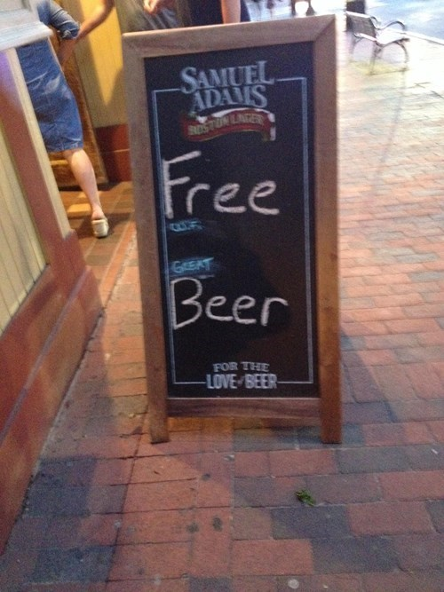 beer sign funny free