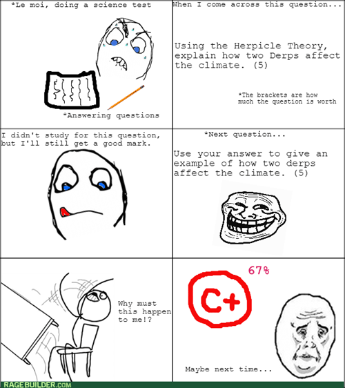 trollface school test Okay table flipping - 8215595520