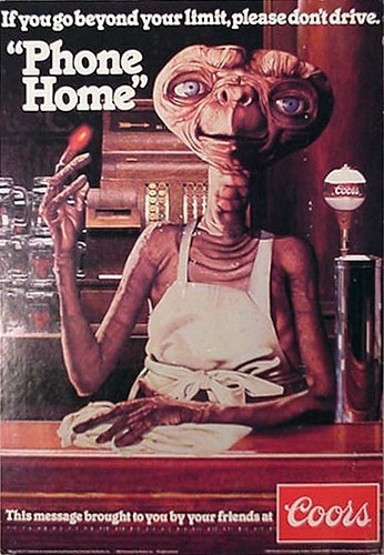 beer E.T ads coors light funny vintage - 8216110336