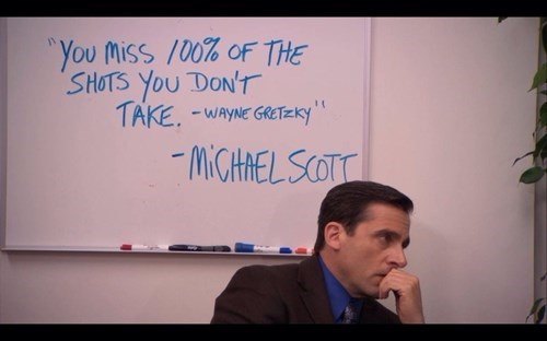the office Michael Scott quote - 8216280576