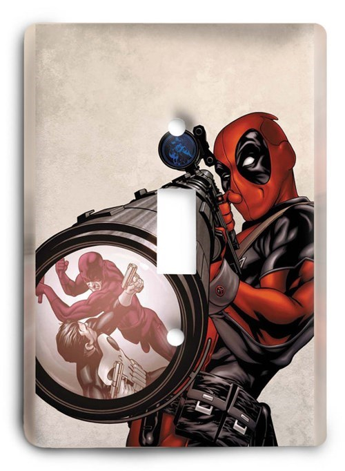 deadpool,etsy,light switch cover