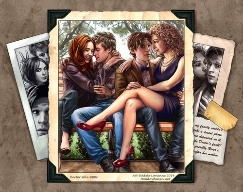rory williams art 11th Doctor amy pond River Song - 8216811776