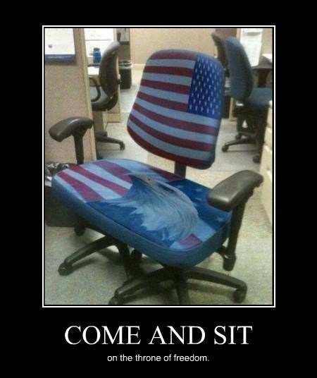 chair freedom murica funny