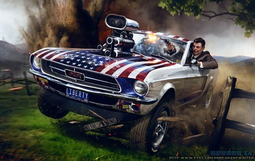 art,deviantart,Ronald Reagan