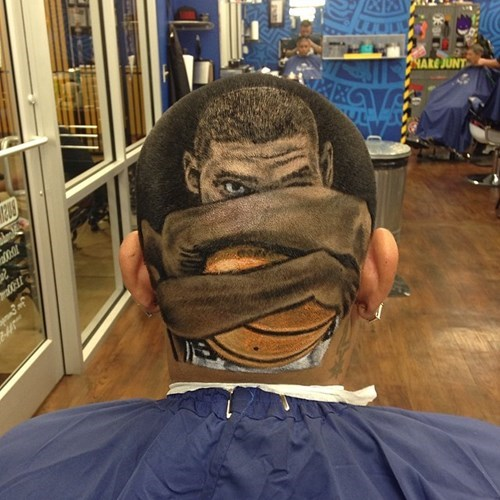 hair art poorly dressed haircut basketball win