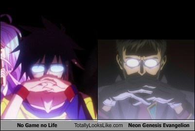 neon genesis evangelion anime totally looks like No Game No Life - 8217120000