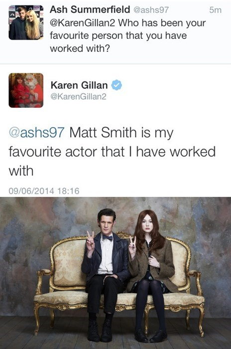 karen gillan Matt Smith 11th Doctor amy pond - 8217191424