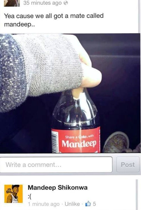 mandeep,coca cola