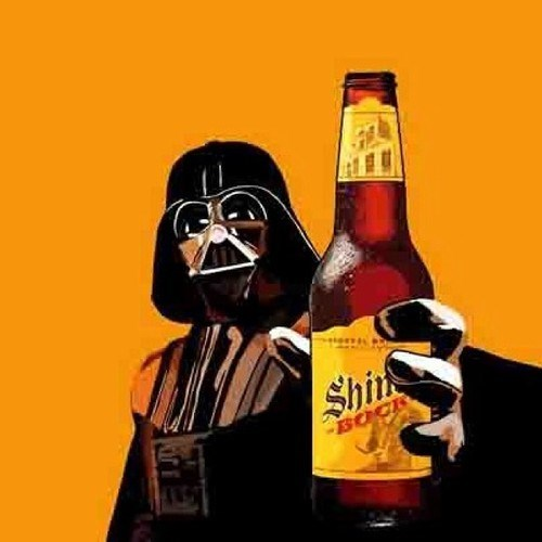 beer,shiner bock,funny,darth vader