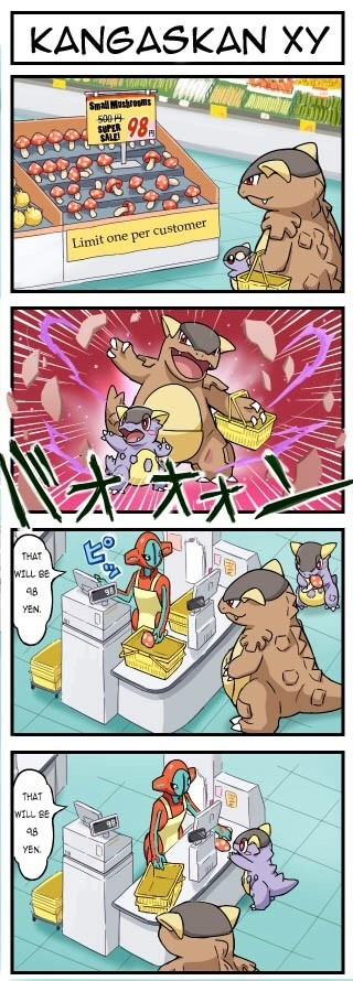 kangaskhan Pokémon web comics - 8217621248