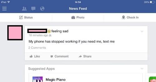 facepalm phone irony - 8217770496