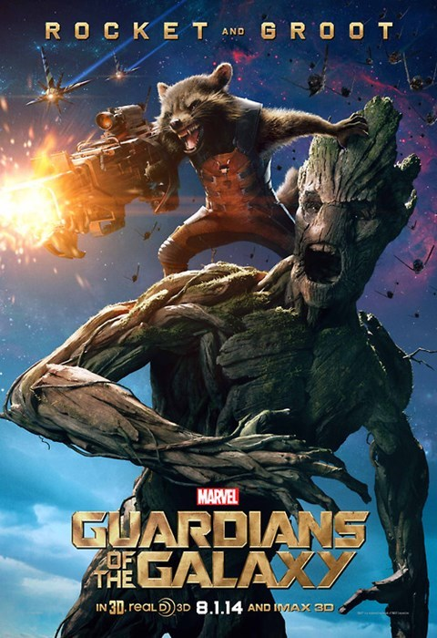 poster guardians of the galaxy rocket raccoon groot - 8217887744