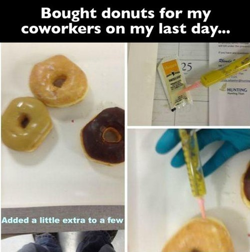 mustard donuts office pranks - 8217991168