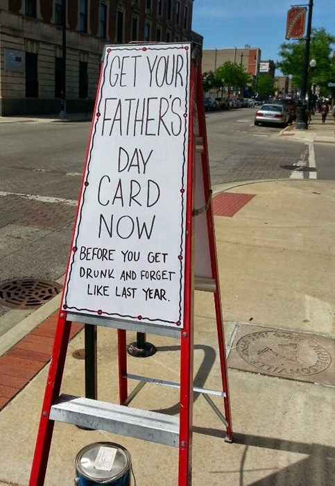 monday thru friday sign fathers day cards parenting g rated - 8218046976