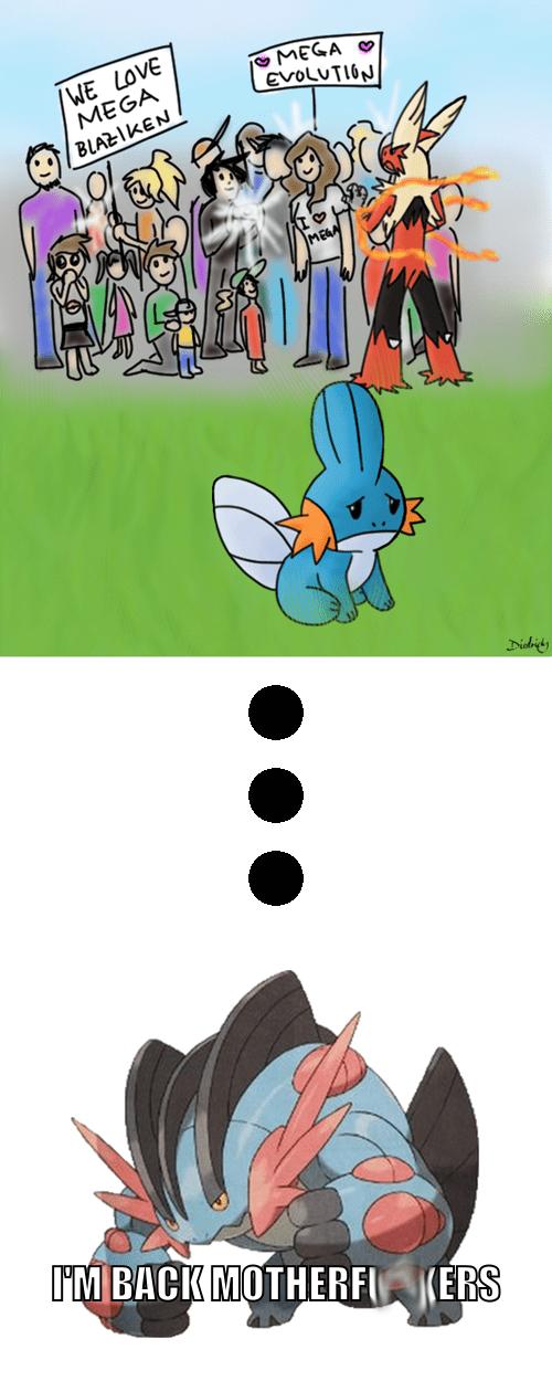 mudkip,Pokémon,mega swampert