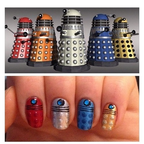 daleks,finger nails