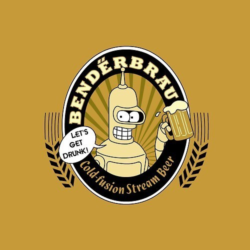 beer bender robots futurama funny - 8218220544