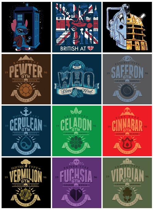 pokemon badges tshirts doctor who - 8218223872
