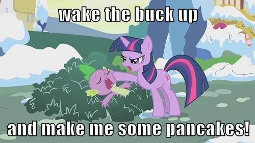 spike twilight sparkle pancakes - 8218376704