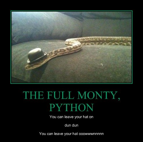 THE FULL MONTY, PYTHON